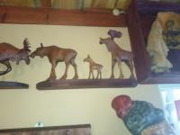 elandenfamilie van hout