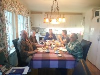 gezellig samen eten met onze visvrienden