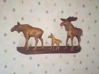 elandenfamilie in hout