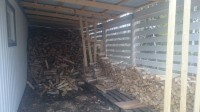 houtstammetjes voor de volgende winter